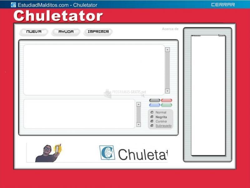Pantallazo Chuletator