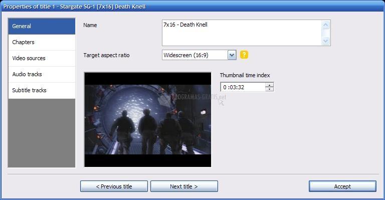 Pantallazo DVD Flick
