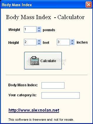 Pantallazo Body Mass Index Calculator
