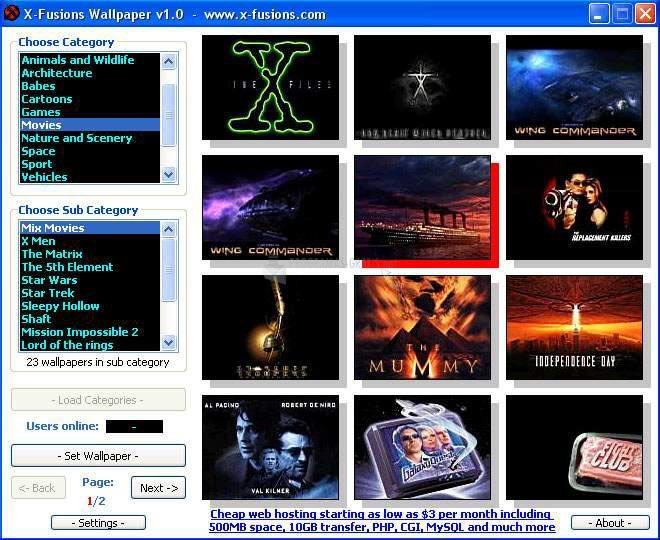 Pantallazo X-Fusions Wallpaper