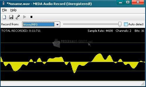 Pantallazo MEDA Audio Recorder
