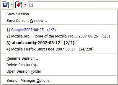 Pantallazo Session Manager