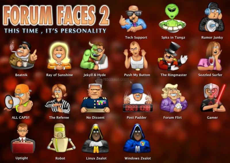 Pantallazo Forum Faces Icon