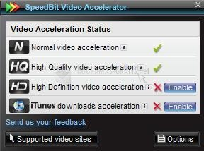 Pantalla SpeedBit Video Accelerator