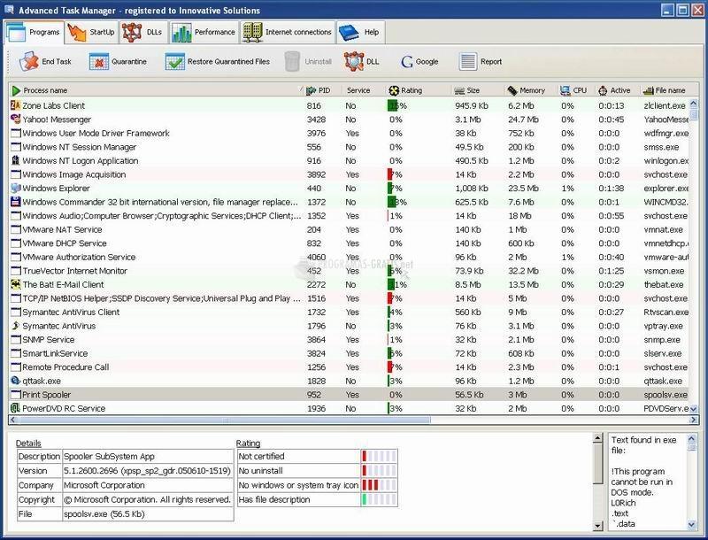 Pantallazo Advanced Task Manager
