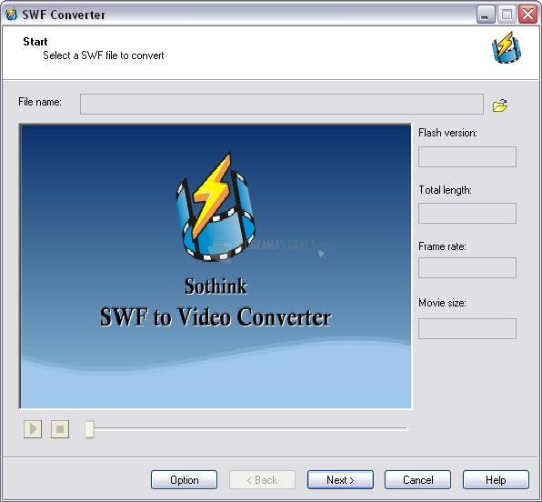 Pantallazo Sothink SWF to Video Converter