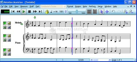 Pantallazo Notation Musician