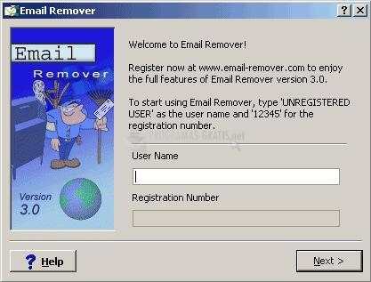 Pantallazo Comcast Email Remover