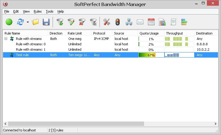 Pantallazo SoftPerfect Bandwidth Manager