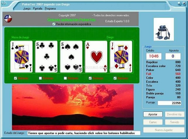 Pantallazo PokerTec
