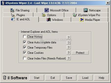 Pantallazo iLsystem Wiper