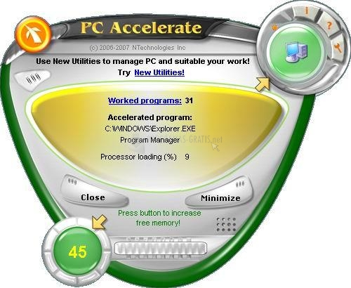 Pantallazo PC Accelerate