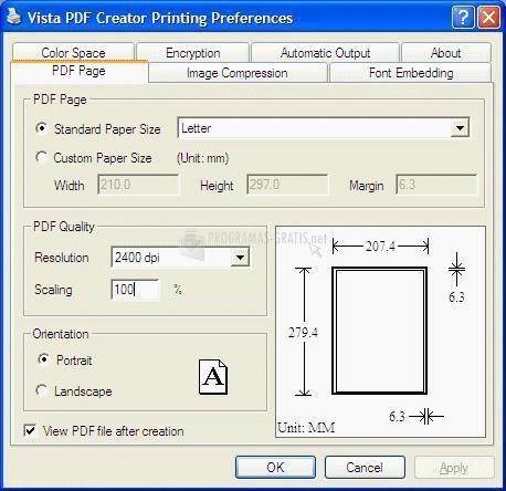 Pantallazo PDF Vista
