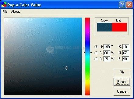 Pantallazo Pop-a-Color Value