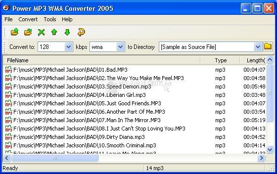 Pantallazo Power MP3 WMA Converter