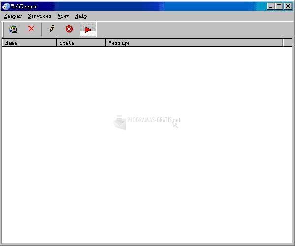 Pantallazo WebKeeper