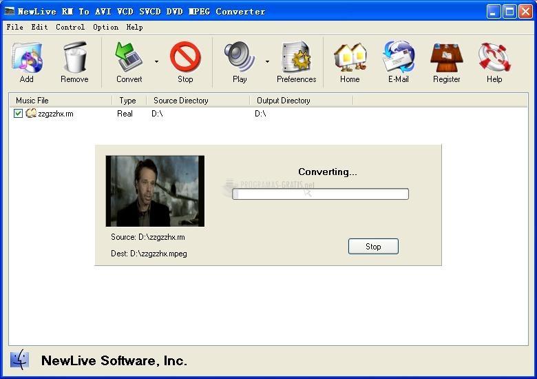 Pantallazo RM to AVI VCD Converter