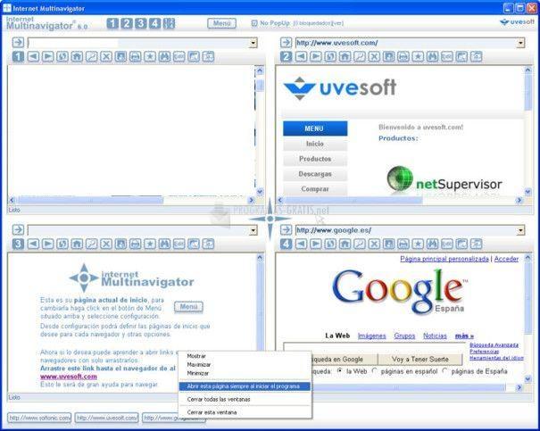 Pantallazo internet Multinavigator
