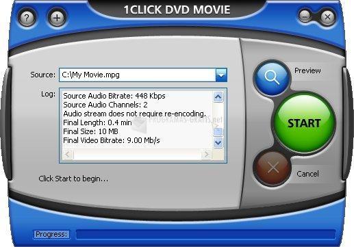 Pantallazo 1Click DVD Movie