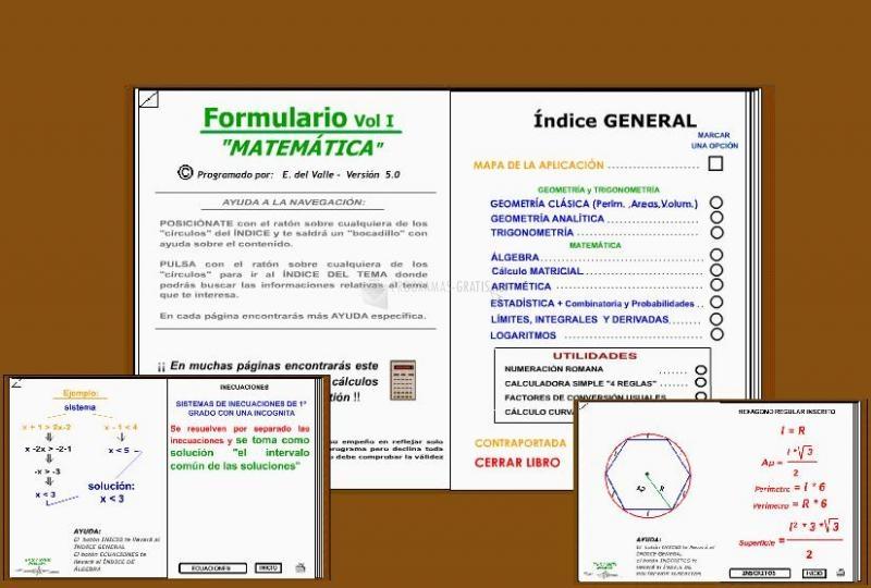 Pantallazo Formulario Matemática