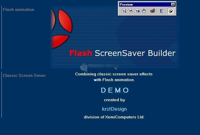 Pantallazo Flash ScreenSaver Builder