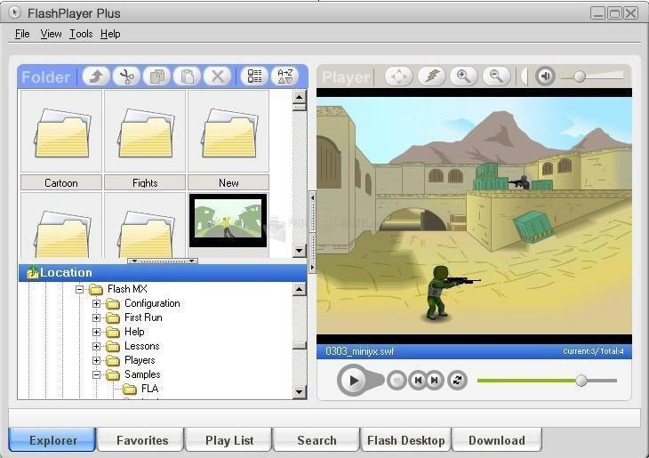 Pantallazo FlashPlayer Plus