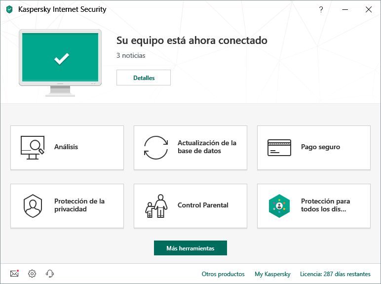 Pantallazo Kaspersky Internet Security