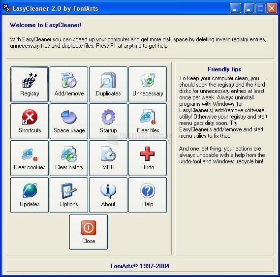 Pantallazo EasyCleaner