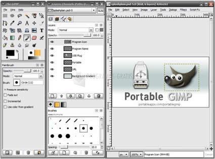 Pantallazo Portable GIMP