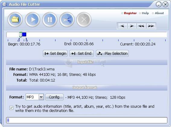 Pantallazo Audio File Cutter
