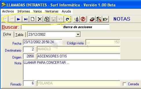 Pantallazo SurfAgenda