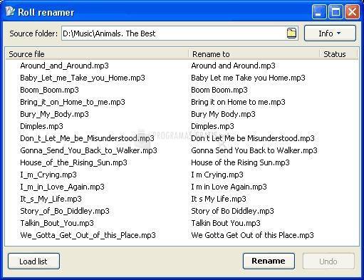 Pantallazo List Renamer