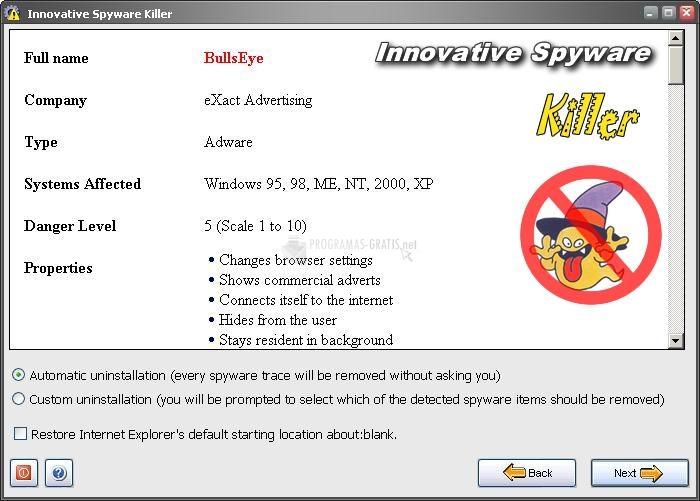 Pantallazo Innovative Spyware Killer