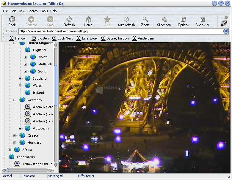 Pantallazo Phonewebcam Explorer