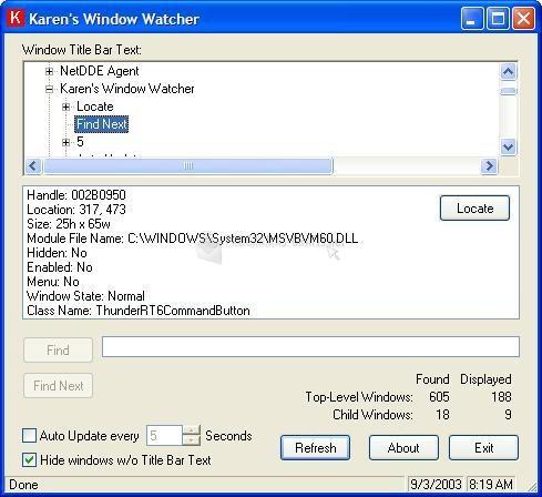 Pantallazo Karen Window Watcher