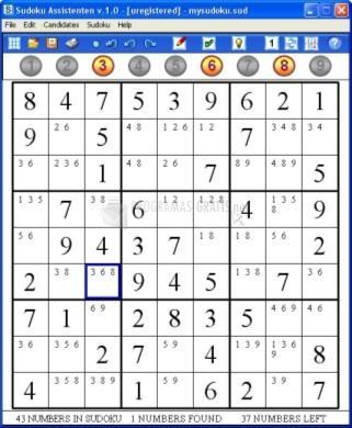Pantallazo Sudoku Assistenten