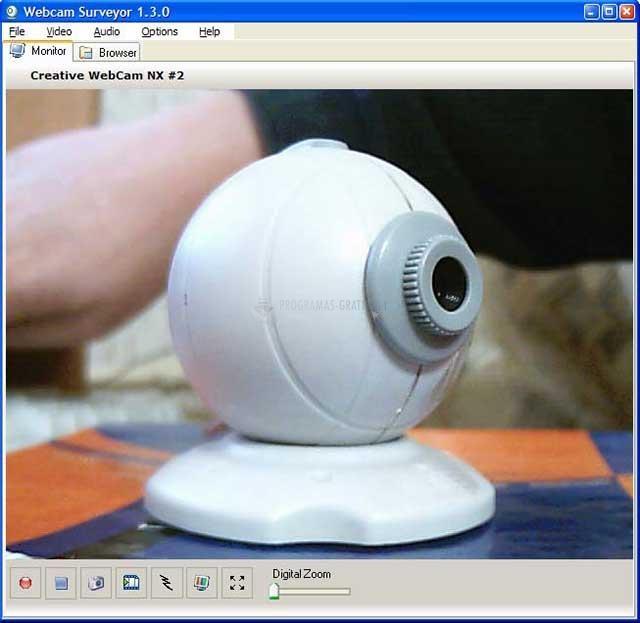 Pantallazo Webcam Surveyor