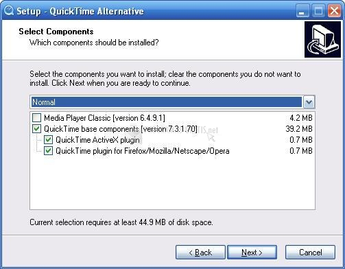Pantallazo QuickTime Alternative