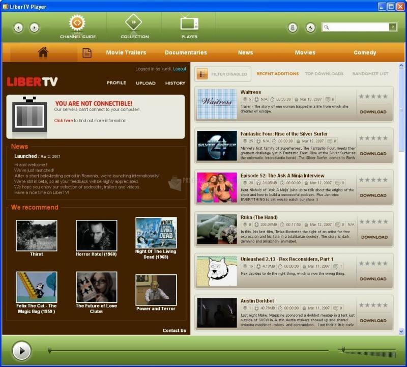 Pantallazo LiberTV Player