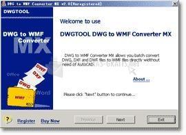 Pantallazo DWG to WMF Converter MX