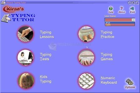 Pantallazo Kirans Typing Tutor