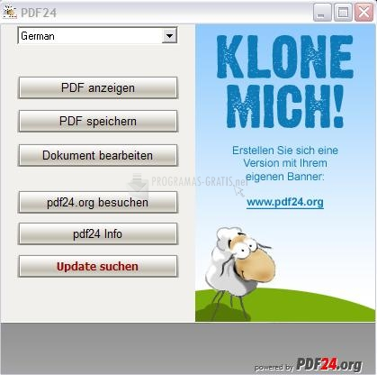Pantallazo PDF24 Creator