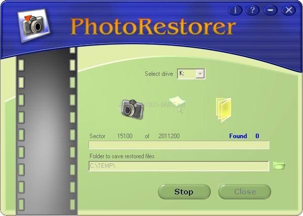 Pantallazo PhotoRestorer