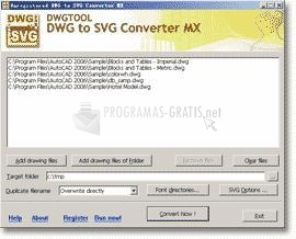 Pantallazo DWG to SVG Converter MX