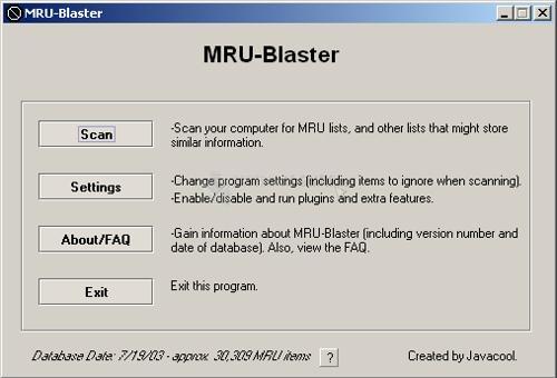 Pantallazo MRU-Blaster