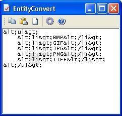 Pantallazo EntityConvert