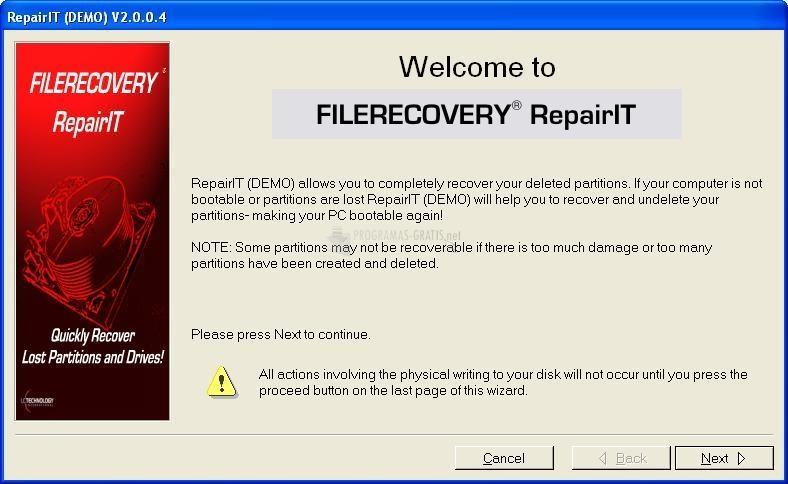 Pantallazo FileRecovery RepairIt