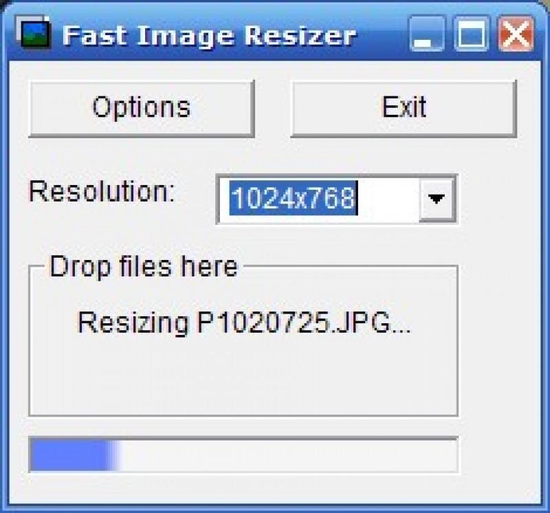 Pantallazo Fast Image Resizer