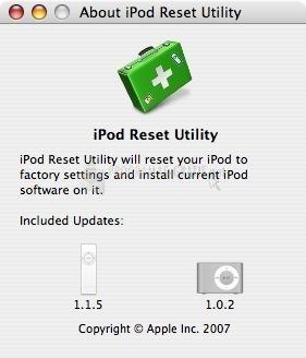 Pantallazo iPod Reset Utility