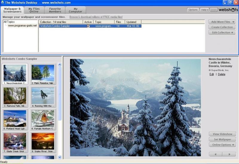 Pantallazo Webshots Desktop